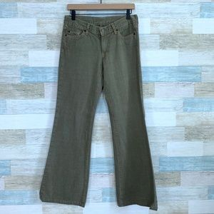 Green Dojo Jeans Mid Rise 7 For All Mankind
